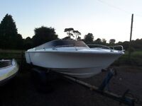 Speed boat Broom 20ft with 140 v4 johnson engine ( speadboat)