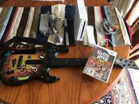 Nintendo Wii and guitar hero