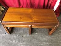 WOODEN NEST OF COFFEE TABLE 1 LARGE 2 SMALL ,CAN DELIVER