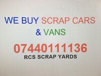 We buy SCRAP Cars and Vans - Same day Collection