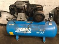 Abac model Pro B 6000 270 receiver mounted air compressor. 2016
