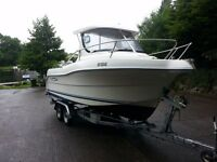 Quicksilver 630 sd pilothouse 21ft diesel fishing boat low hours 120hp mercruiser