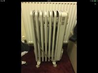 Electric radiator with six settings