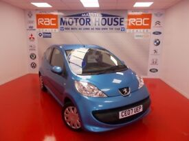 Peugeot 107 URBAN(£20.00 ROAD TAX) FREE MOT'S AS LONG AS YOU OWN THE CAR!!! (blue) 2007