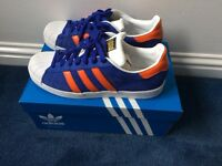Men's Adidas superstar trainers and Lambretta leather brogue boots like new