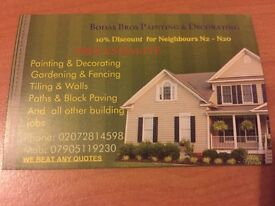 North London Painting & Decorating, Gardening & Fencing, Handyman, Removal & Rubbish Collection,