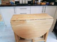 Gateleg table and 4 chairs