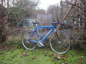 raleigh racing bike,dbr special products,carbon forks,18 spd,very tidy,runs well