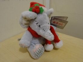 Christmas Elliot Elephant - small size - with tags
