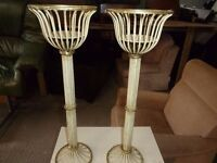 2 x Metal Candle Sticks Delivery Available £7.50