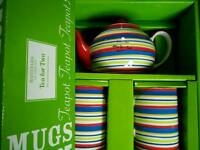 BNIB Hand painted Whittard tea for two gift set
