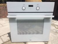 Modern electric built in oven white