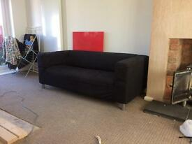 Ikea sofa black