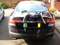Bike cycle rack carrier for boot or tailgate mounting
