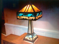 A LARGE 28INCH HIGH MEYDA EGYTPIAN CARAVAN TIFFANY LAMP R.R.P $1732 OR £1322