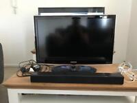 "Samsung 32"" tv and sound bar"