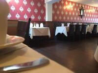 Busy Indian restaurant looking for full time waiting staff and Tandoori Chef.
