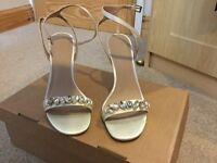Asos ivory dressy sandals, size 6 ,Never worn, with box.