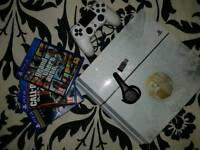 Playstation 4 with 3 PS4 Games and Geotek Bluetooth headset