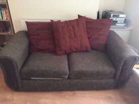 A lovely brown sofa