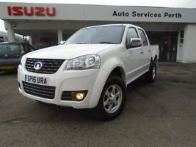 Great Wall Double Cab 4x4, 143 BHP Engine, 6 Speed, 2.5 Tonne Towing, Only £9995 No Vat