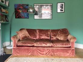 Gorgeous velvet sofa £120