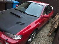 Subaru Impreza WRX turbo track car with brand new trailer