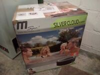 MSPA M-011LS Silver Cloud, Inflatable hot tub with chemical kit 'NEW'