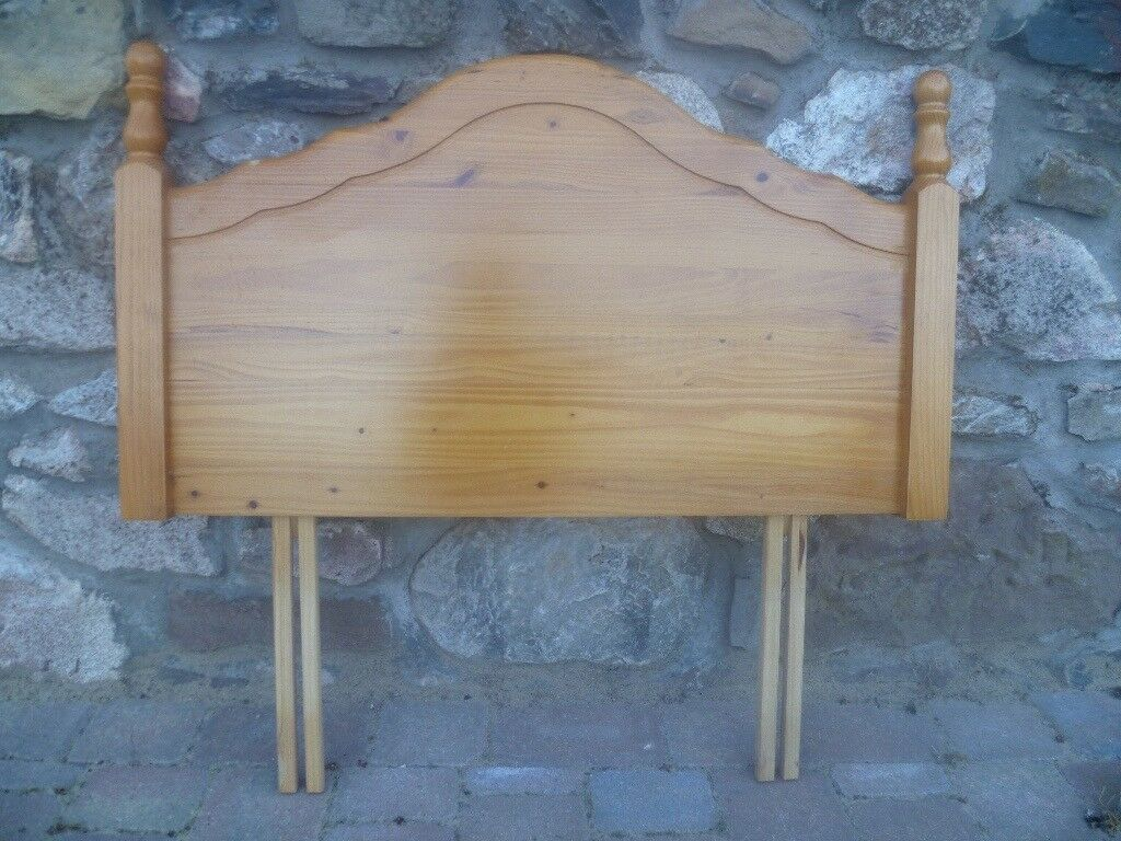 Solid pine single bed headboard