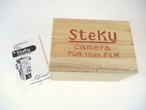 Vintage Japanese The Steky 16mm Miniature Camera box & instructions 1955
