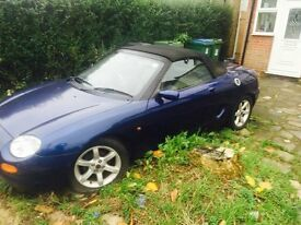 MG/MGF/MGTF (tahiti blue )breaking for parts only.....cheap!!!!!