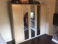 5 Door Mirrored Wardrobe