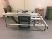 Elektra Beckum PKF 255 Table Panel Saw. Single Phase. Sliding Table Panel Saw c/w Dust Extractor