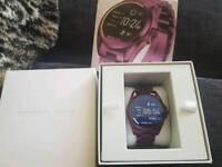Michael kors smart watch in plum