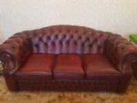 3 Piece Oxford Chesterfield Sofa Set