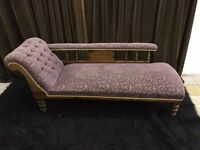URGENT!!! beautiful chaise long vintage purple sofa