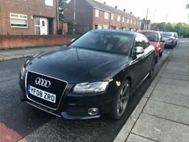 "2008 Audi S5 Quattro 4.2 V8 FSi Black Red Leather High Spec 354 bhp 19""Alloys FSH"