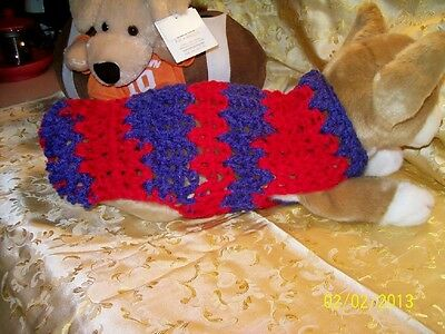 Dog Apparel RED & BLUE Sports SWEATER XS