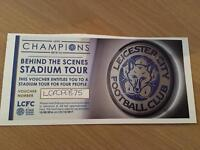 Leicester city stadium tour tickets.