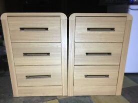 2 x bedside drawers, Chest of drawers, side unit set