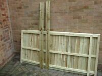 FULLY PREASURE TREATED GARDEN FENCES ALL SIZES FEATHER EDGE