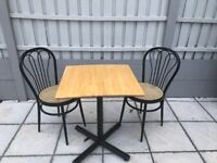Table and 2 Chairs (ideal for small space or cafe) (9 Tables and 18 Chairs Available)