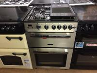 Silver 60cm gas cooker
