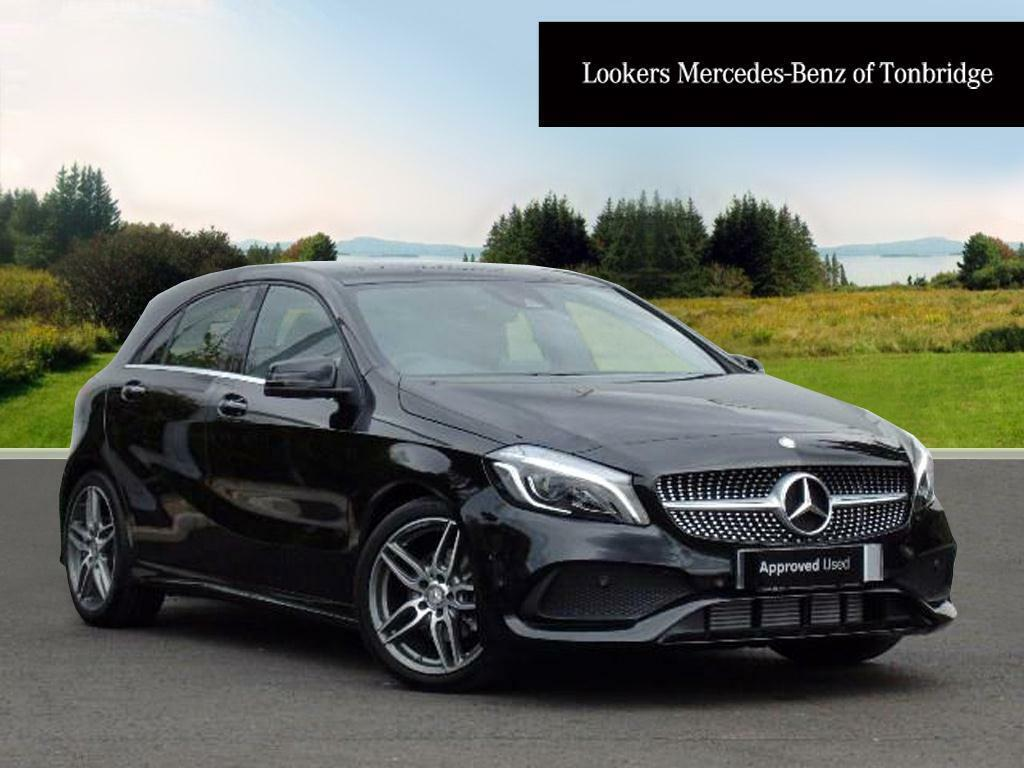 Mercedes benz a class a 180 d amg line premium plus black for Mercedes benz distronic plus
