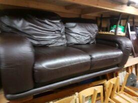 3 + 2 dark coffee brown sofa can deliver