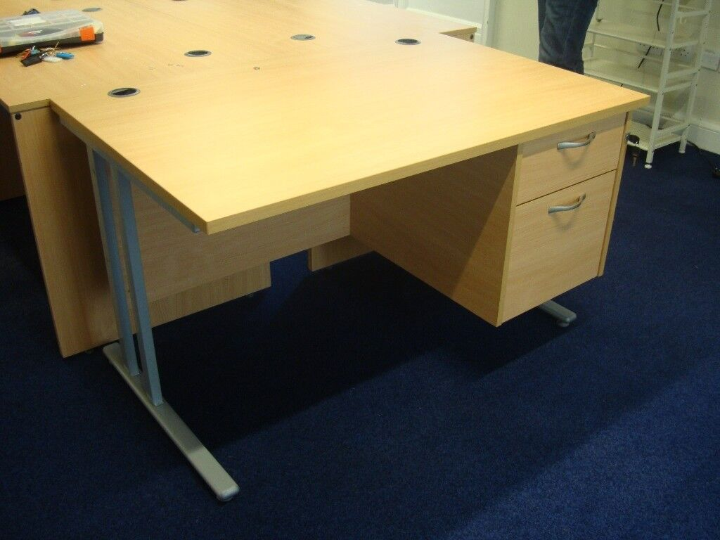 Ihram Kids For Sale Dubai: Pine Office Desk With Two Drawer Unit