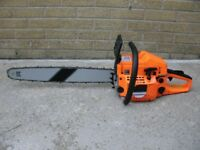 Brand New 62cc chainsaws with 20'' or 22'' inch bar. Plus safety wear - chain saw
