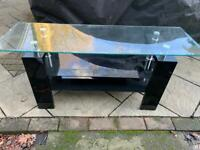 Black Glass consol table