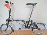 Bespoked Brompton M3L Folding Bike (Brand New) With Accessories