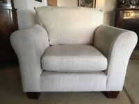 Two Sofas & Armchair For Sale